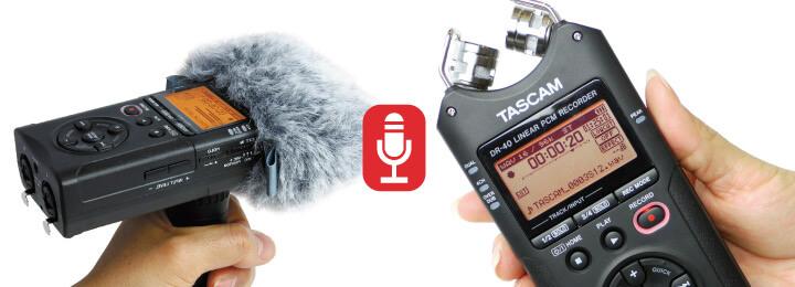 Le Tascam DR-40 pour enregistrer un podcast de qualité facilement