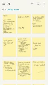 Notes ou post-its sur mon téléphone.