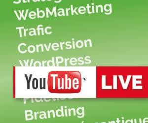 Événements WebMarketing live sur YouTube