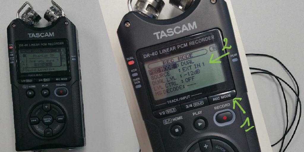 configurer-tascam-dr40-avec-rode-smartlav