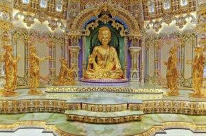 akshardham- Delhi Akshardham Temple Statue Of Swaminarayan Postcard