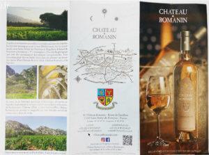 Comment réaliser un dépliant, exemple : Chateau Romanin à St Rémy de Provence