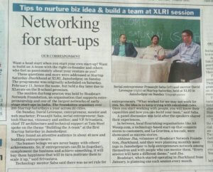 """""""Networking for startups"""", The telegraph"""