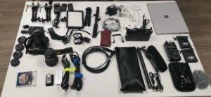 Voici l'intégralité du matériel dont j'ai besoin pour travailler