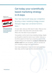 8 steps to get your scientifically based marketing strategy
