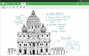 Microsoft OneNote permet la prise de note manuscrite