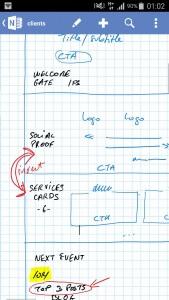 La boite à outils de consultant nomade... Prise de note avec OneNote sur son téléphone