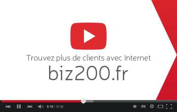 Carte de visite Mon business à 200%, biz200.fr par David Levesque