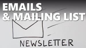 Gestion des emails, mailing list et WordPress
