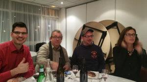 Avec Tarik Hannane (SG Autorépondeur), Didier, Caroline Herbinger (la créatrice de l'événement SDIN)
